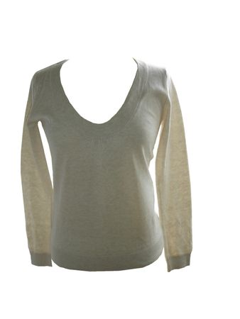 Strick Pullover Noa Noa Basic Cotton Melange Size: L Colour: Salt NEU – Bild 1