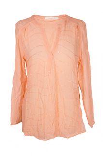 Mandala Pailletten-Bluse Tunika aus Seide