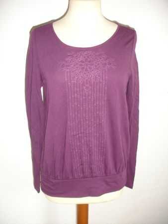 Poetry Viscose By Noa Noa  T-Shirt, Long Sleeve Gr. S Farbe: Purple – Bild 1