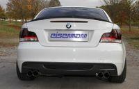 EISENMANN Duplex Sportauspuff BMW 125i E82 Coupe E88 Cabrio mit M-Technik-Heckschürze - 2x76mm rechts links