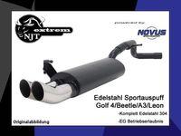 NOVUS Edelstahl Sportauspuff VW Golf 4 1.4l 1.6l 1.8l 2.0l 1.9l TDI - 2 x 76mm DTM