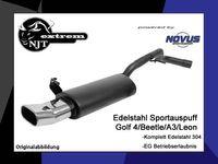 NOVUS Edelstahl Sportauspuff Seat Leon 1M 1.4l 1.6l 1.8l 1.9l TDI - 75 x 135mm DTM