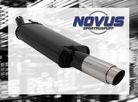 NOVUS Sportauspuff Opel Tigra  A/S93 1.4 16V  1.6 16V - 1 x 90mm GP-Design