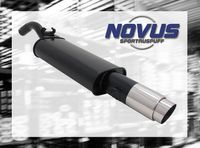 NOVUS Sportauspuff VW Golf 2 Typ 19E 1.1  1.3  1.6  1.8  1.6D - 1 x 103mm GP-Design