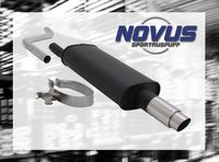 NOVUS Sportauspuff VW Polo 2 + 3 Typ 86C 1.0  1.1  1.3  1.3 G40 - 1 x 76mm GP-Design
