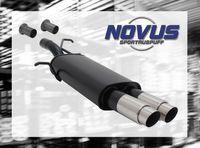 NOVUS Sportauspuff Peugeot 307 3A/C Bj. 2001-2005 1.4  1.6  2.0  1.4HDI  1.6HDI  2.0HDI - 2 x 76mm GP-Design
