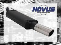NOVUS Sportauspuff Opel Astra G Caravan G/T98 1.2  1.4  1.6  1.8  2.0 16V  1.7D  2.0D 74kW - 1 x 90mm SR-Design