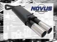 NOVUS Sportauspuff VW Polo 5 inkl. Facelift Typ 9N/9N3 1.2  1.4  1.4 TDI - 2 x 90mm