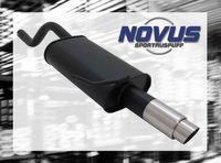 NOVUS Sportauspuff Renault Clio 2 BB0/CB0 1.2  1.4  1.6 16V  - 1 x 76mm GP-Design