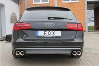 FOX Duplex Sportauspuff Audi A6 4G Limousine Avant 2.0TDI ab 11 - 2x90mm Typ 13 rechts links Bild 3