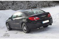 FOX Duplex Sportauspuff Chrysler Sebring Limousine Typ JS 2.7l ab 07 - 1x100mm Typ 25 rechts links