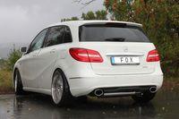FOX Duplex Sportauspuff Mercedes B-Klasse 246 1.6l 2.0l ab 11 - 1x140x90mm Typ 32 rechts links Bild 2