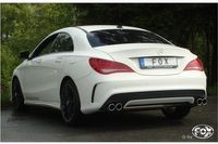 FOX Duplex Sportauspuff Mercedes CLA C117 1.6l 2.0l ab 13 - 2x80mm Typ 12 rechts links