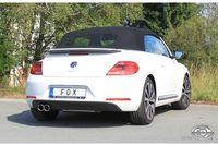 FOX Sportauspuff VW Beetle 16 Cabrio 1.4l 2.0l ab 11 - 2x90mm Typ 16