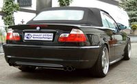 FOX Duplex Rennsportanlage ab Kat BMW 320 323 325 328 330 E46 Lim. Touring Coupe Cabrio - 2x76mm Typ 10 rechts links