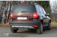 FOX Sportauspuff Skoda Yeti 5L - Frontantrieb - 2x80 Typ 12 Bild 7