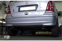 FOX Duplex Mercedes A-Klasse 168 Endrohrsystem rechts/links für original Endschalldämpfer - 106x71 Typ 32 rechts/links