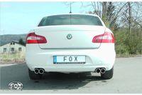 FOX Duplex Sportauspuff Skoda Superb 3T - 2x80 Typ 16