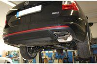 FOX Duplex Sportauspuff Skoda Octavia 5E RS 2.0l TDI 135kW ab 2013 - für originale Endrohre Bild 4