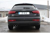 FOX Sportauspuff Audi Q3 Benzin 2.0l TFSI 125/155kW - 2x80 Typ 12