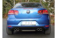 FOX Duplex Sportauspuff VW Eos 1F Facelift 1.4l TSI 90/118kW - 2x80 Typ 16 rechts/links Bild 2