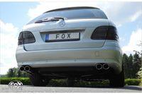 FOX Duplex Komplettanlage Mercedes E-Klasse S211 Kombi 1,8l 135kW - 2x88x74 Typ 32 rechts/links