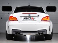 MILLTEK PERFORMANCE Duplex Komplettanlage BMW 1 (E82), M1 Coupe - Endrohrvariante li/re 2x80mm GT