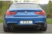 FOX Duplex Sportauspuff BMW 6er F12/F13 649i M-Paket - ohne Endrohre