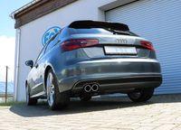 FOX  Sportauspuff Audi A3 8V  - S-Line 1,8l 132kW einseitig - 2x80 Typ 16 Bild 4