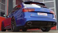 FRIEDRICH MOTORSPORT Duplex Komplettanlage 2x76mm Audi RS6 4G Quattro ab Bj. 08/2013  4.0l TFSI 412/445kW