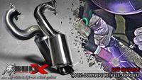 BULL-X Downpipe für Audi A1 1.4l TSI 122/125 PS (nur Turbo) mit 200 Zeller HJS Sportkat