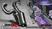 BULL-X Downpipe für Audi A1 1.4l TSI ( Turbo Kompressor) mit 200 Zeller HJS Sportkat Bild 2