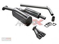 BULL-X Komplettanlage Gruppe A 63,5mm Skoda Fabia 1,2l - 1,4l TSI - 2x80mm