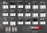 BULL-X Komplettanlage Fiat 500 Abarth Modelle - 2x 101mm gebördelt mit Kugelkopf Bild 2