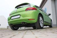 FOX Duplex Sportauspuff VW Scirocco 3 1.4l TSI 90/118kW / 2.0l TDI 100/103kW- 2x76 Typ 25 rechts/links