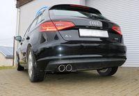 FOX Sportauspuff Audi A3 8V Sportback 1.4l TFSI 90/92/103/110kW - 2x90 Typ 16