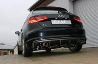 FOX Duplex Sportauspuff Audi A3 8V Sportback 1.4l TFSI 90/92/103/110kW - 2x88x74 Typ 32 rechts/links