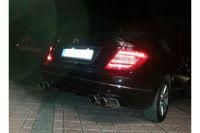 Fox Duplex Sportauspuff Mercedes C-Klasse 4-Zylinder Coupe C204 - 2x115x85 Typ 32 rechts/links Bild 2