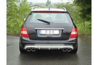 Fox Duplex Sportauspuff Mercedes C-Klasse 4 Zylinder W204/S204 AMG-P. + C63 - 2x115x85 Typ 32 rechts/links Bild 5