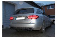 Fox Duplex Sportauspuff Mercedes C-Klasse 205 Limousine/ T-Modell 1,6l 115kW - 2x115x85 Typ 32 rechts/links