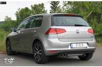 FOX Rennsportanlage VW Golf 7 1.2l 1.4l ab 12 - 2x80mm Typ 25