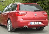 FOX Rennsportanlage ab Kat Seat Exeo 3R Limousine Kombi ST 1.6l - 2x80mm Typ 16 Bild 2
