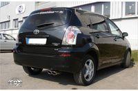 FOX Sportauspuff Toyota Corolla Verso Diesel 2,2 D-4D 130kW Bj. ab 04´ - 2x106x71 Typ 32 Bild 2