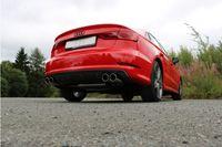 FOX 70mm Duplex Sportauspuff Audi A3 8V Limousine 1.4l TFSI 90/92/103/110kW - 2x80 Typ 16 rechts/links Bild 4
