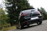 FOX Duplex 70mm Duplex Sportauspuff VW Golf 7 R  4-Motion 2.0l 221kW - 2x115x85 Typ 44 rechts/links Bild 2