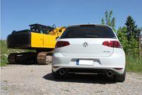 FOX Duplex 70mm Duplex Sportauspuff VW Golf 7  4-Motion 2.0l TDI 110kW - 1x100 Typ 16 rechts/links Bild 3