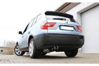 FOX Sportauspuff BMW X3 - X53 2.0l D 110/105/110/120/130kW 3.0l D 150kW - 2x80 Typ 25