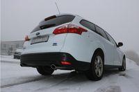 FOX Duplex Sportauspuff Ford Focus 3 Ecoboost 1.0l 74/92kW - 106x71 Typ 32 rechts/links