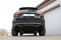FOX 70mm Duplex Sportauspuff Jeep Grand Cherokee WK 2  6.4l SRT8 344kW - 129x106 Typ 32 rechts/links SCHWARZ