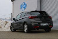 FOX 70mm Duplex Sportauspuff Opel Astra K Schrägheck 1.6l 147kW - 129x106 Typ 32 rechts/links